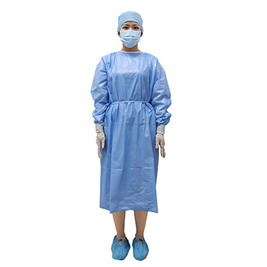 58gsm Blue Purcotton Isolation Gown